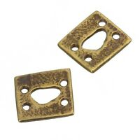 Pack of 1 Large Antique Gold Plated Four Holes Square Connectors 29mm E91//6