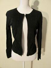 S7331 Finity Women's Medium Black Neck Clasp Dress Cardigan Decorative Lacing