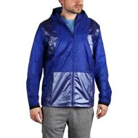 Under Armour Mens Jacket Perpetual Full Zip Hooded Fitted Blue Running Sz L $150