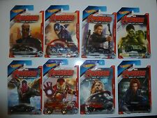2015 Hot Wheels Avengers Age of Ultron - Complete set of 8