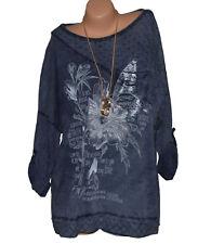 Italy Moda Tunika Shirt Bluse Feder Mandala Übergröße 42 - 48 N°105