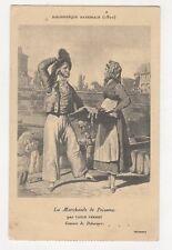 La Marchande de Poissons Carle Vernet Vintage Postcard France 275a