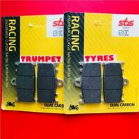 FRONT BRAKE PADS FITS SV 1000 S 03 > 07 SBS DUAL CARBON RACING RACE 631DC