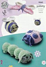 Toy Lavoro a Maglia Motivo CATERPILLAR APE FARFALLA COCCINELLA yummychunky kingcole 9060