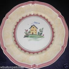 "VILLEROY & BOCH JARDIN D'ALSACE VILLAGE BREAD BUTTER PLATE 6 5/8"" HOUSE RED TRIM"