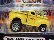 MUSCLE MACHINES - CARTOONS / MOTHERS - '40 WILLYS PICKUP HOT ROD - 1/64 DIECAST
