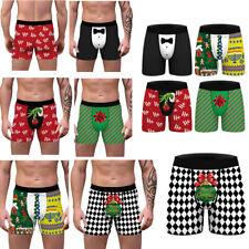 Mens Lingerie Christmas Printing Funny Underwear Elastic Boxer Shorts Patnties