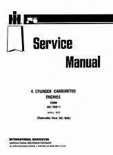 International Farmall Super H HV M MV 300 400 450 Utility Engine Service Manual
