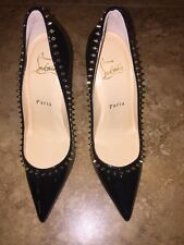CHRISTIAN LOUBOUTIN Studded ANJALINA Pumps, Black, size 34 1/2 EU 4 1/2 US, $799