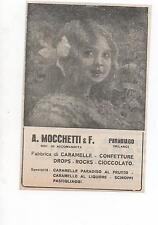 Pubblicità vintage CARAMELLE MOCCHETTI MILANO advert reklame werbung publicitè