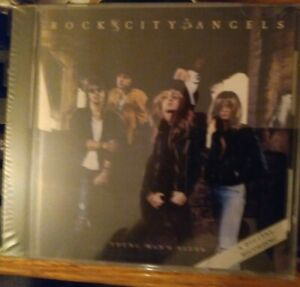 """ROCK CITY ANGELS """"YOUNG MAN'S BLUES"""" cd - US SELLER - FREE SHIPPING - OOP & RARE"""