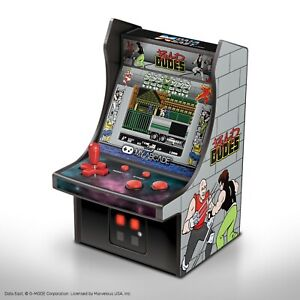 "My Arcade Bad Dudes Micro Player - 6.75"" Collectible Retro Arcade Machine"