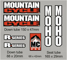 Mountain Cycle, MOHO, San Andreas, R series, Repro decals, set of 7 as shown.