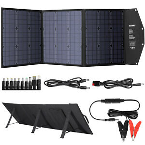 120W Folding Solar Panel Blanket Solar Mat Charger Kit For Camping Car Battery