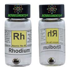 Rhodium metal element 45 Rh sample 0.5 gram 99,99% pellet in labeled glass vial