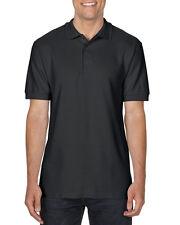 Men Gildan Premium Cotton Polo Shirt Black White S M L XL 2XL 3XL