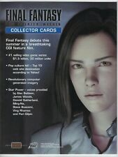 FINAL FANTASY Collector trading cards 2001 Comic Images PROMO Dealer Sell Sheet.