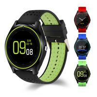 Bluetooth Smart Watch Sports Pedometer Clock With SIM Card For Android IOS