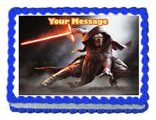 "Kylo Ren StarWars Edible image Cake topper decoration personalized -7.5""x10"""
