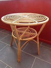 TABLE BASSE BAMBOU ROTIN DESIGN SCANDINAVE VINTAGE 50 60 MODERNISTE / N°1
