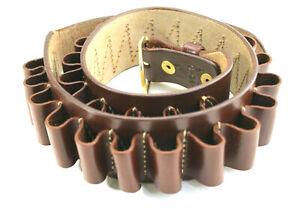 Vintage Triple K USA Handcrafted Leather 12 Gauge 25 Cartridge Belt Size 36-40
