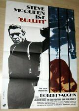 German Movie Poster: Bullitt (1968) Steve McQueen MUSTANG MOTORCYCLE