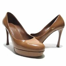 cc340c5cf4c YSL Yves Saint Laurent Caramel Pebbled Leather High Heel Pumps EUR 38 US 8