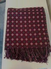 Paulette Rollo 100% Extrafine Merino Wool Honeycomb Throw - Purple