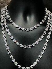 Men's Mariner Gucci Corrente Icy Man Made Diamantes sólido 925 Prata 8mm espessura