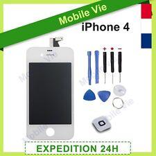 ECRAN IPHONE 4 BLANC VITRE TACTILE  + RETINA ORIGINAL LCD SUR CHASSIS