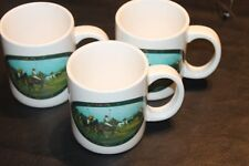 Ralph Lauren Polo Pony Horse Equestrian Theme Lot of Three 3 Coffee Cup Mug