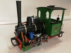 LGB G Gauge 24140, Green Red 0-4-0 No 1 Field Railway Steam Loco Near mint Boxed