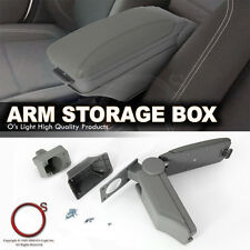 Honda Civic 90-05 Center Console Grey Leatherette Armrest Storage Box