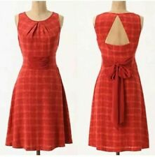 Anthropologie Girls from Savoy Goji Plaid Dress - 100% silk - US 14 / UK 16