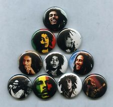 "BOB MARLEY 1"" PINS / BUTTONS legend exodus catch fire survival wailers lp poster"