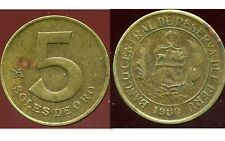 PEROU  5 soles de oro  1980  ( bis )