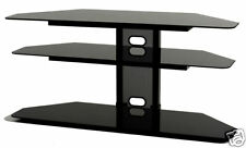 Corner TV Stand for 55 in. Flat Screen with Audio Video Storage Shelves Console