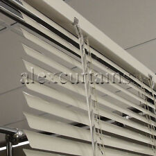 Aluminium Venetian Blinds, Size: 180x210cm, 25mm Slat, Colour: Ivory