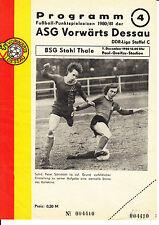 DDR-Liga 80/81 ASG hacia adelante Dessau-BSG acero Thale 07.12.1980