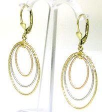 Orientalische Ohrringe Ohrhänger 585 er Gold 14 Kt Gelb, weiss und rotgold Neu