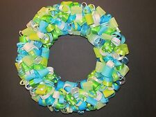 Turquoise & Green Door Wreath