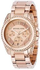 Michael Kors Blair Ladies Rose Gold Chronograph Designer Watch MK5263
