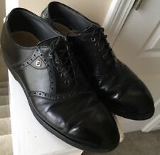Footjoy Golf Oxford Loafers Mens Size 8 D Black Leather Shoes Oxfords Casual
