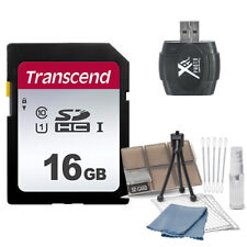 Transcend 16GB SDHC Class 10 Memory Value Kit with Reader + Card Holder