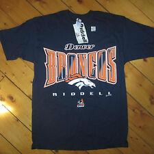 vintage NWT mens L 1990's '97 DENVER BRONCOS FOOTBALL T-Shirt by RIDDELL NOS NFL