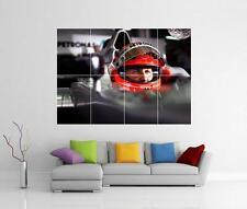 MICHAEL SCHUMACHER F1 FERRARI GIANT WALL ART PICTURE PHOTO PRINT POSTER