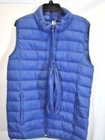 Mens M XL Packable Vest Jacket Puffer Winter Warm Sweater Coat Zip US Blue NEW
