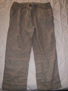 Standard James Perse Men's linen khaki Pants Sz 36 cropped