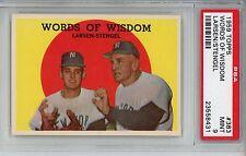 1959 Topps #383 Don Larsen/Casey Stengel PSA 9 MINT New York Yankees
