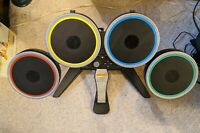 PS4 Rock Band Drum Kit With Kick Pedal 051-063 Tested Great Condition